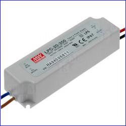 ALIMENTATORE X LED 3-48V 17W 350mA - MEANWELL