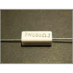 Resistenza 680 ohm 2W 5% a filo in cassa ceramica