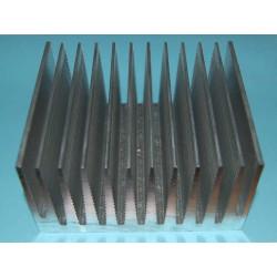 DISSIPATORE in alluminio per Rele' Statici