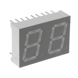 Display LED doppio a 7 segmenti 13mm verde