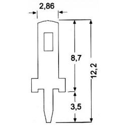 TERMINALE PIN per Circuito Stampato (10 pezzi)
