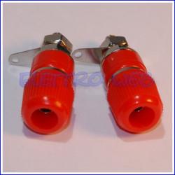 BOCCOLA DA PANNELLO diametro 4mm ROSSA (conf. 2 pezzi)