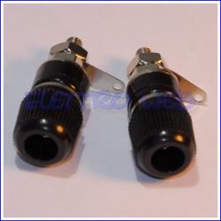 BOCCOLA DA PANNELLO diametro 4mm NERA (conf. 2 pezzi)