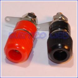 BOCCOLA DA PANNELLO diametro 4mm (1 COPPIA) - 1 NERA + 1 ROSSA  (conf. 1 coppia)