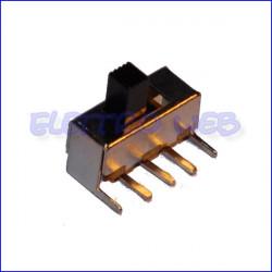 Deviatore a slitta da circuito stampato a 90° 1Via 2Posizioni (conf. 2 pezzi)