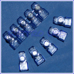 Morsetto elettrico volante in policarbonato - 20 pezzi - 2.5mmq