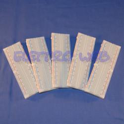 PIASTRA SPERIMENTALE 830 CONTATTI - Breadboard - LOTTO da 5 PEZZI - NUOVI