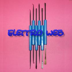 Set attrezzi per saldatura e dissaldatura componenti elettronici