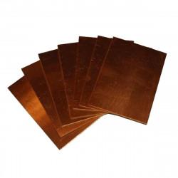 Piastra bachelite ramata singola faccia 100 x 70 mm (conf. 2 pezzi)