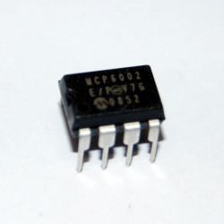 INTEGRATO MCP6002-E/P - Amplificatore Operazionale DUAL 1.8V - MICROCHIP