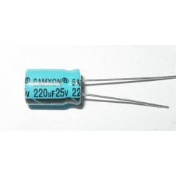 COND. ELETT. 220uF 25V 8X12 P3,5