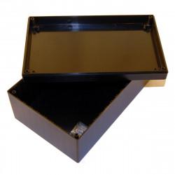 CONTENITORE PLASTICO 223 x 139 x 92mm con alloggiamenti per schede elettroniche