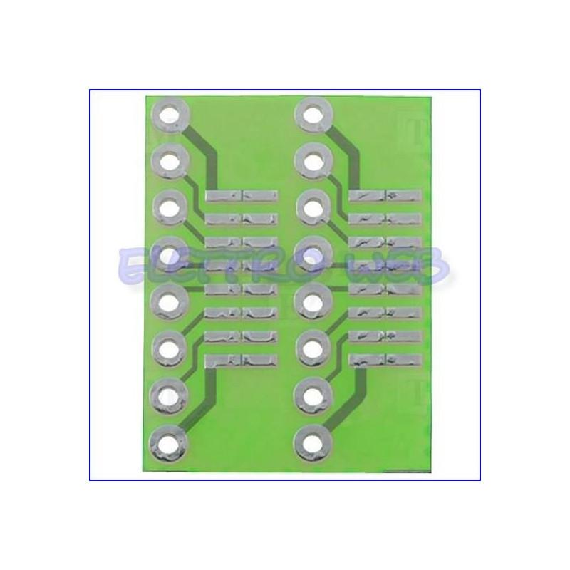 Adattatore  SO/DIP 16 pin a DIL