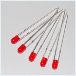 LED 3 mm ROSSO