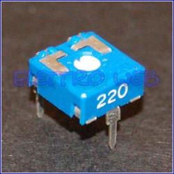 TRIMMER 220 Ohm 10X10 Orrizontale