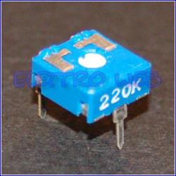 TRIMMER 220 KOhm 10X10 Orrizontale
